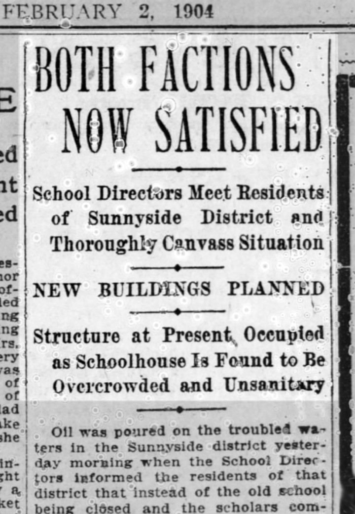 """""""Both Factions Now Satisfied"""" SF Call, 4 February 1904. From newspapers.com."""