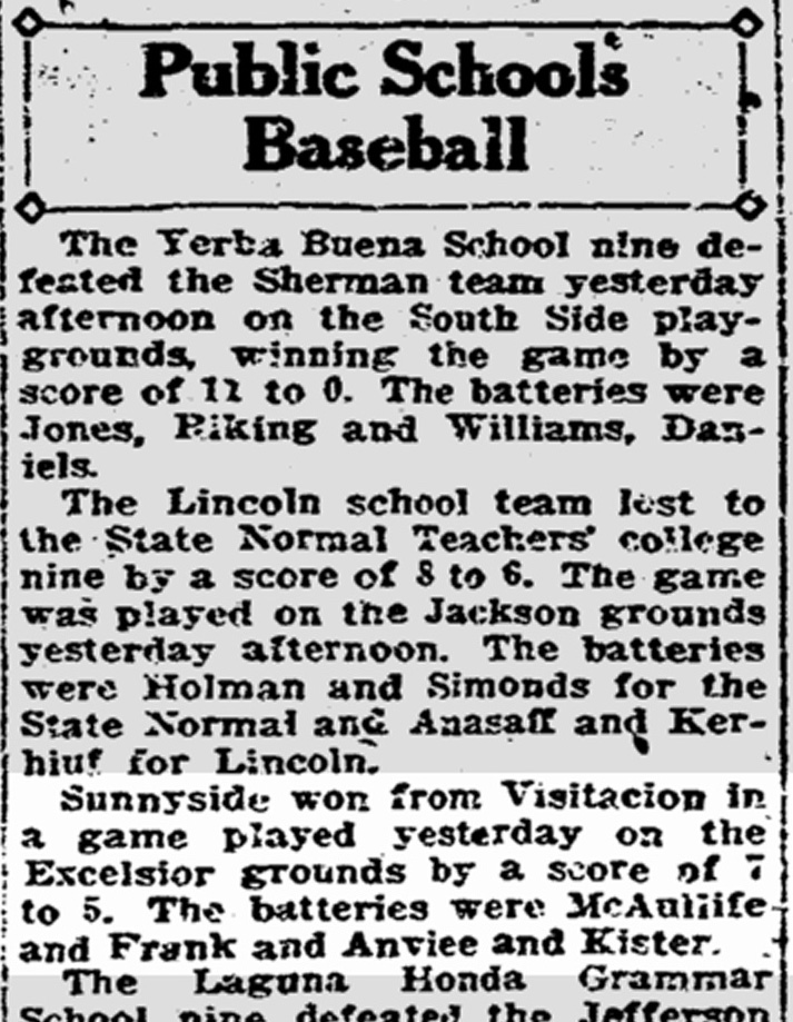 SF Chronicle, 4 April 1922. From newsbank.com.