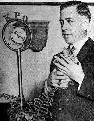 """Lyle Tucker, host of """"Big Brother"""" on KPO in the 1920s. From BayAreaRadio.org."""