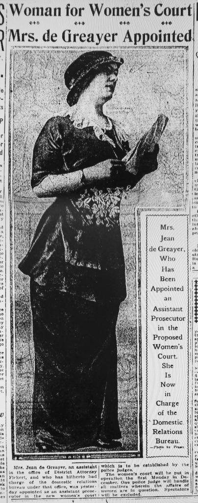 Perhaps good fashion sense was a requirement of the job? SF Examiner, 17 Nov 1916, p.9.