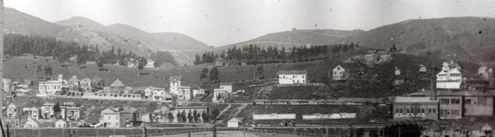Panorama photo of Sunnyside about 1905. Courtesy of Jacqueline Proctor, Mt Davidson.org.