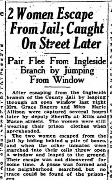 SF Chronicle, 5 Aug 1920.