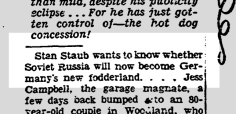 From Herb Caen's column, 18 Mar 1940.